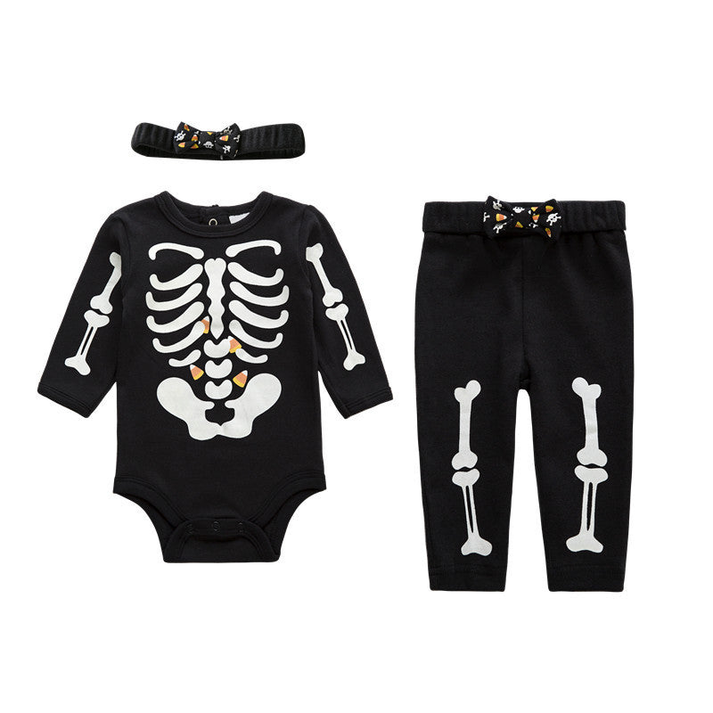 Skeleton 3Pcs Halloween Costume - Lola + Bronte