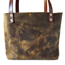 Sage Green Pull-up Leather Tote