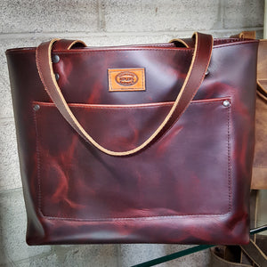 Rosewood Pull-up Leather Tote