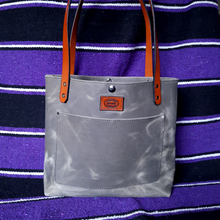 Slate Gray Pull-up Leather Tote