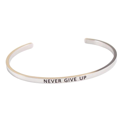 'Never Give Up' Positive Vibes Bracelet