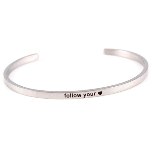 Only 3 Left!! - 'Follow Your Heart' Positive Vibes Bracelet