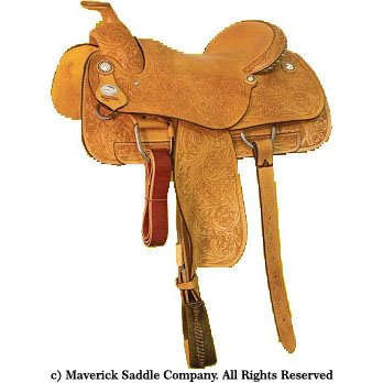Maverick Economy Steer Wrestling Saddle MSSW-008