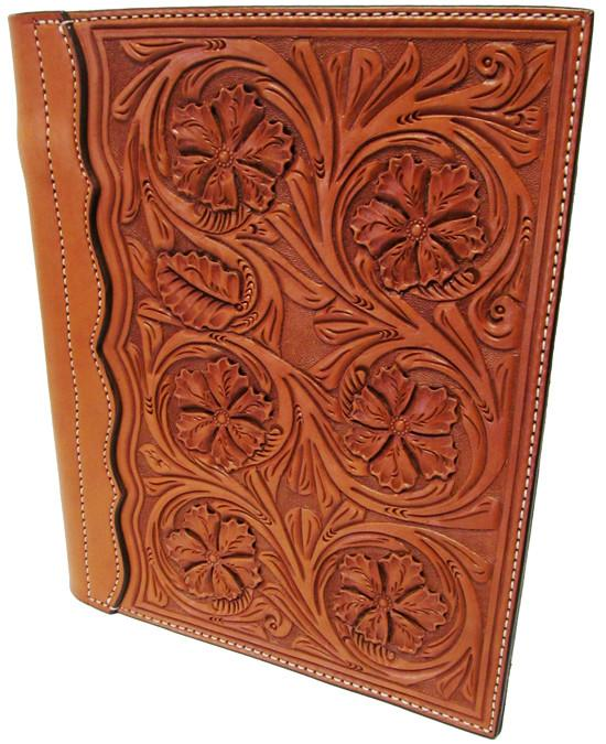 Wyoming Floral Tooled Authentic Leather Notebook Cover
