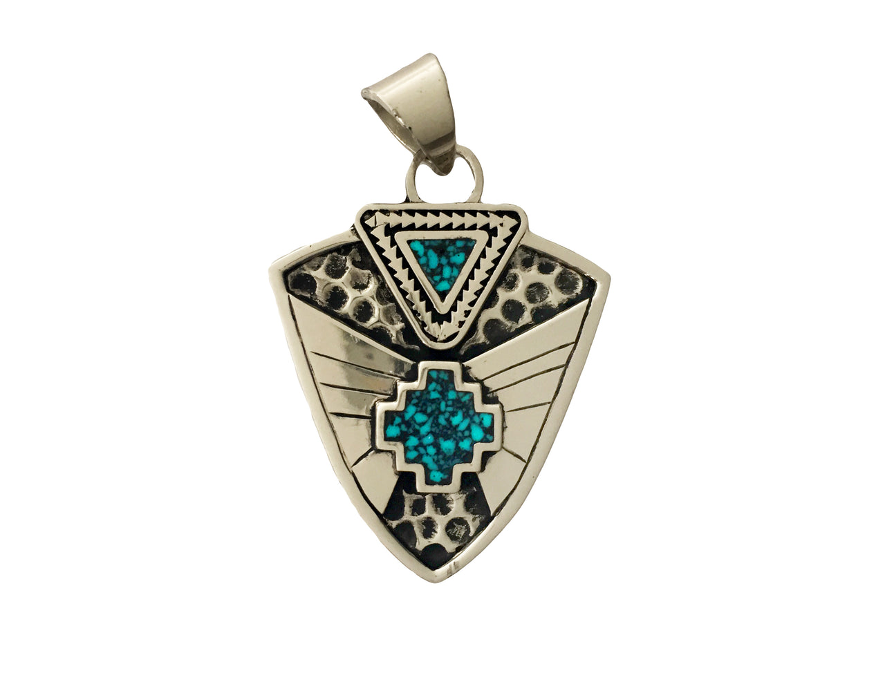 Aztec Cross Arrow Pendant