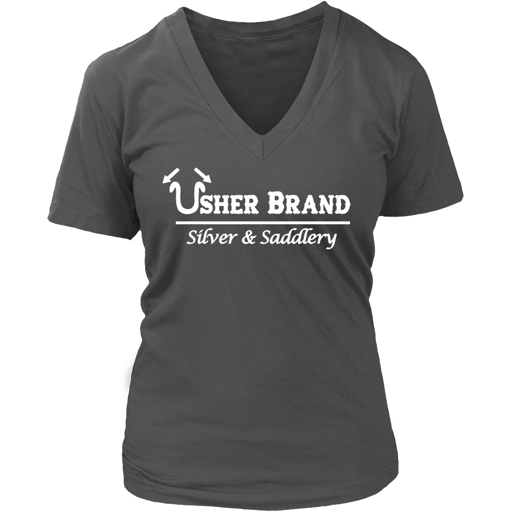 Usher Brand Women's V Neck T-Shirt