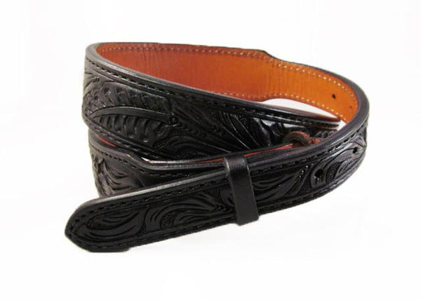 Tapered Belt black floral belt