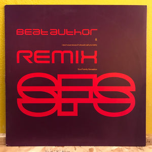 "Soul Family Sensation - Beat Author - 12""single - Electronic"