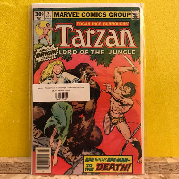 Marvel - Tarzan Lord of the Jungle - Special Origin Issue