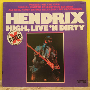 Jimi Hendrix - High Live n Dirty - red vinyl LP (limited unofficial)