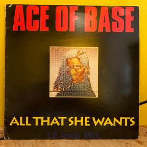 "Ace of Base - All That She Wants - 12"" - synth pop"