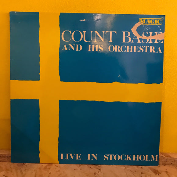 Count Basie & His Orchestra - Live In Stockholm - LP - jazz
