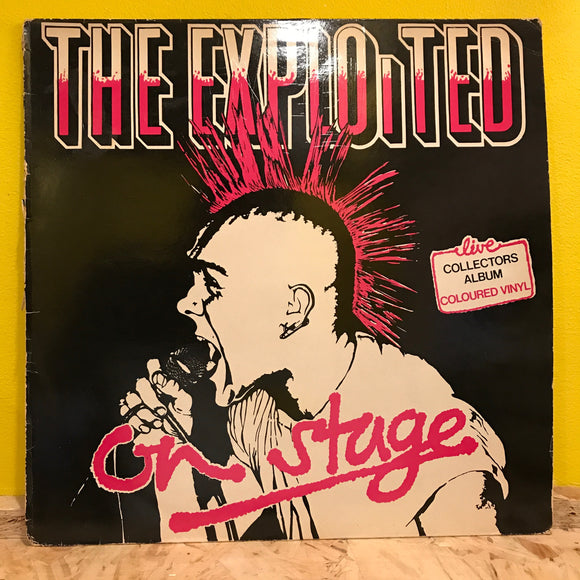 The Exploited ‎– On Stage - LP - punk