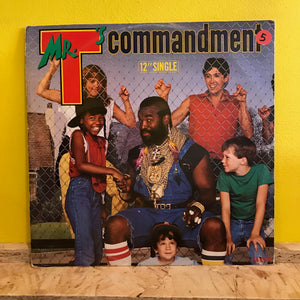 "Mr T - Mr T's Commandment - 12"" single - pop rap"