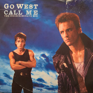"Go West - Call Me - 12"" single - synth pop"