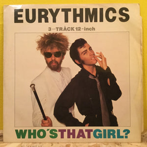 "Eurythmics - Who's That Girl - 12"" - synth pop"
