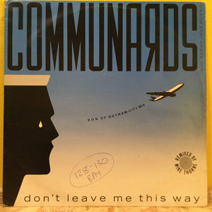 "Communards - Don't leave.. - 12"" - synth pop"