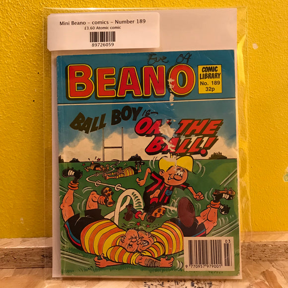 Mini Beano - comics - Number 189