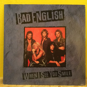 "Bad English - When I See You Smile - 12"" single - rock"