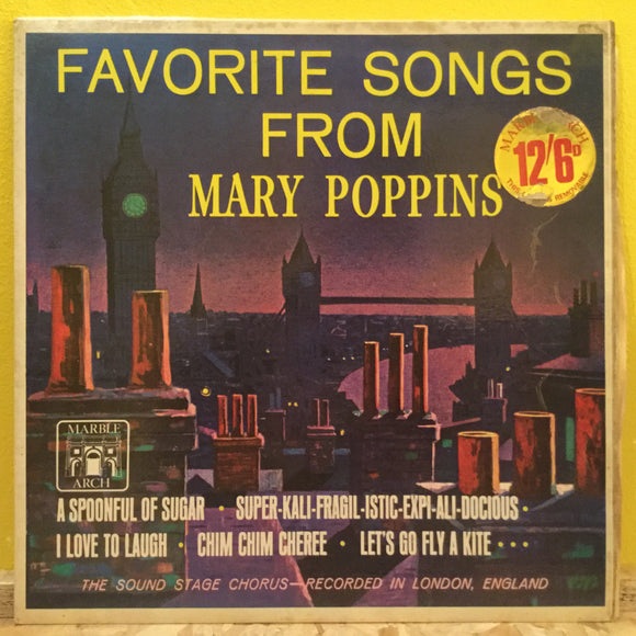 The Sound Stage Chorus ‎– Favourite Songs From Mary Poppins - LP - soundtrack