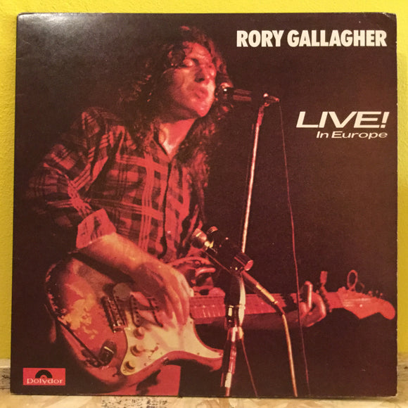 Rory Gallagher - Live in Europe - LP - blues rock