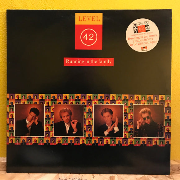 Level 42 - Running in the Family - LP - electronic