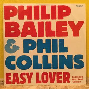 "Philip Bailey & Phil Collins ‎– Easy Lover - 12"" Single - pop rock"