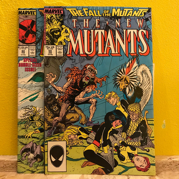 Marvel - The New Mutants: Fall of the New Mutants - (Issues 59 & 60) - Comics Combo