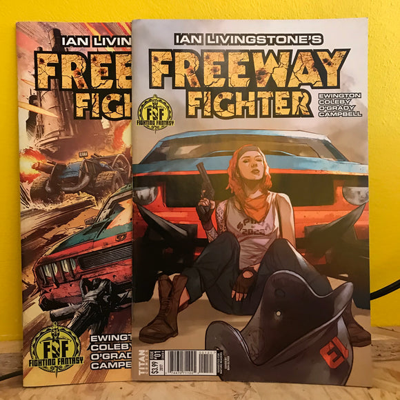 Titan Comics - Freeway Fighter (2017) - (Issue 1 Cover A & B) - comics