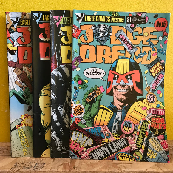 Eagle Comic Presents (2000AD) - Judge Dredd - (Issues 15 to 18) - Comic Combo