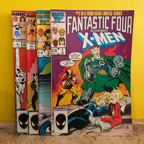 Marvel - Fantastic Four vs. X-Men (1987) - Issues 1 to 4 (Limited Series) - Comics Combo