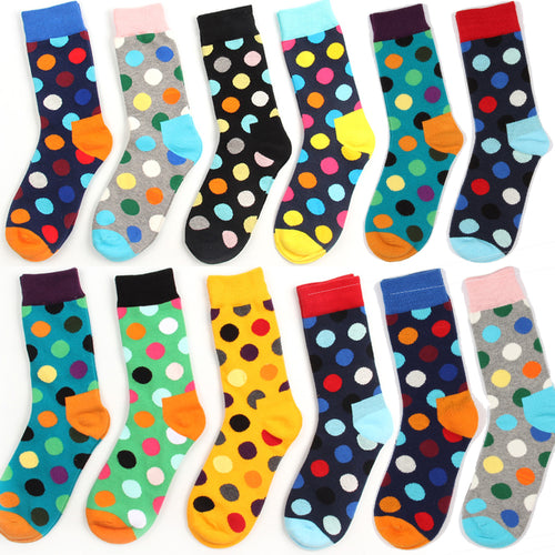 Socks Cotton Colorful polka Dot