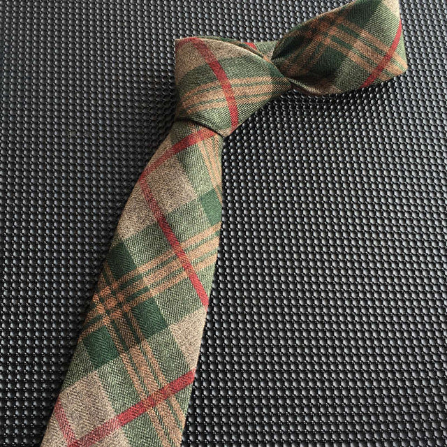 Wool tie men 6 cm