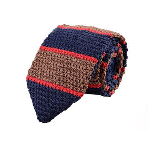 Men Knit Narrow Slim Ties