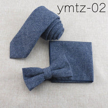 Tie+Bowtie+Handkerchief Sets Cotton
