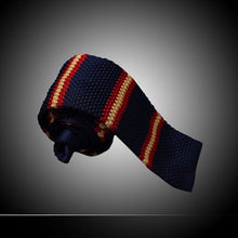 Men Fashion Striped Blue White Knitted Ties