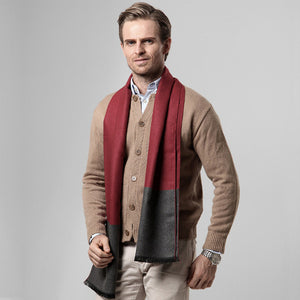 Winter Men's Plaid Cashmere Scarf