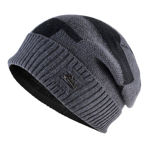 Hat men beanies knitting wool