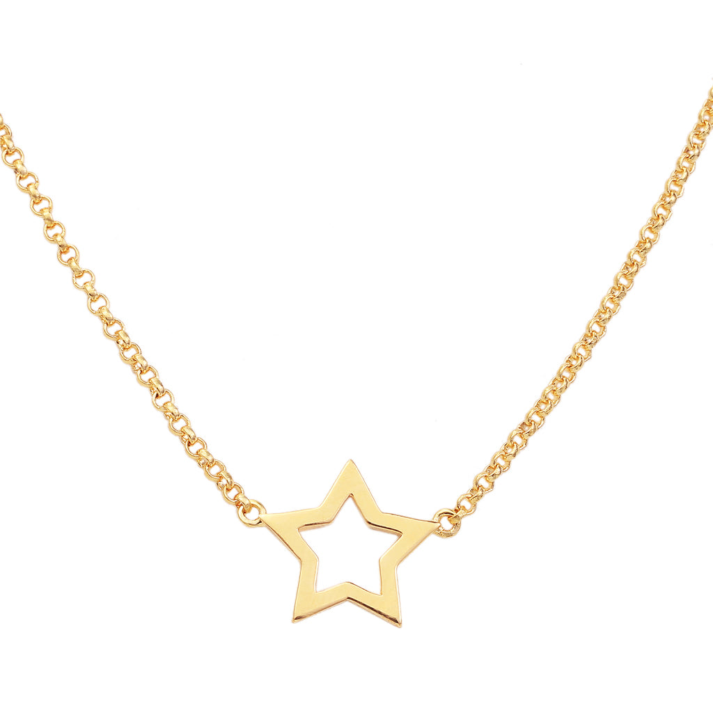 Gold-Star-Necklace