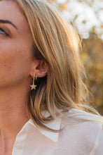 Stars Earrings with zircons