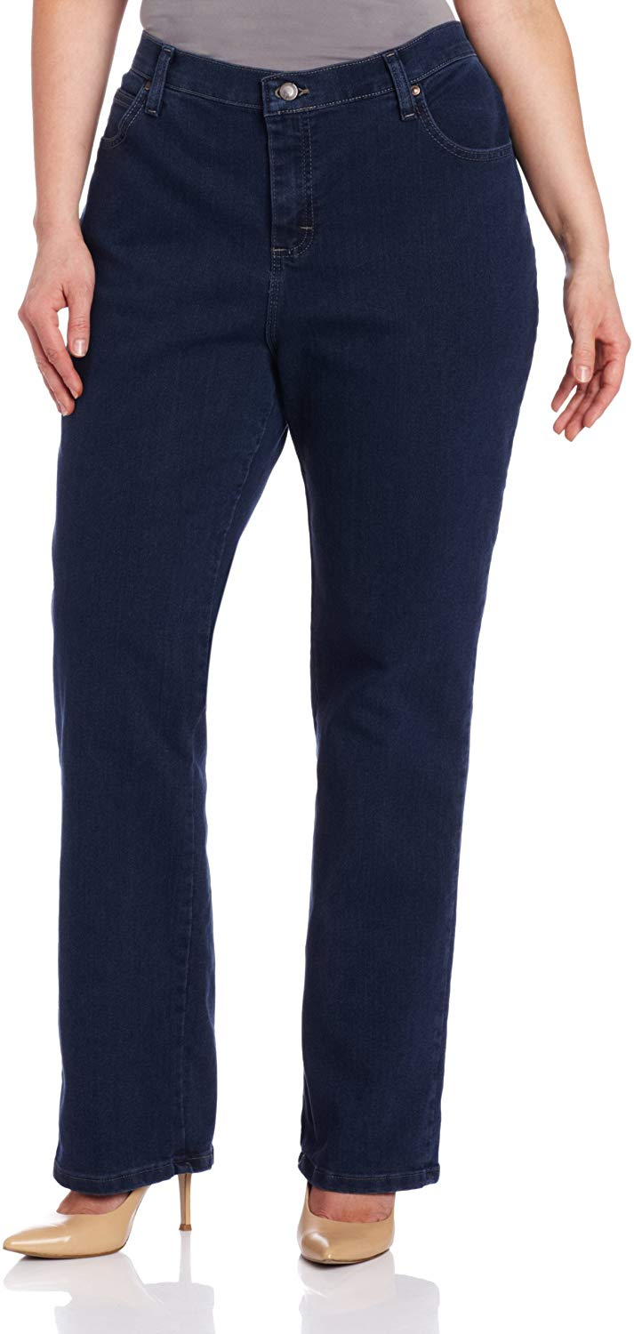 Women's Plus Size Relaxed Fit Straight Leg Jean - Bomberish
