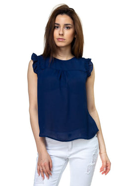 Ruffle Sleeve Top - Bomberish