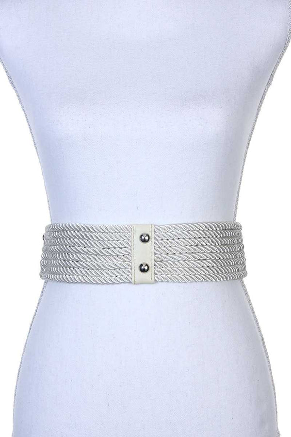 Rope Metal Ring Belt - Bomberish