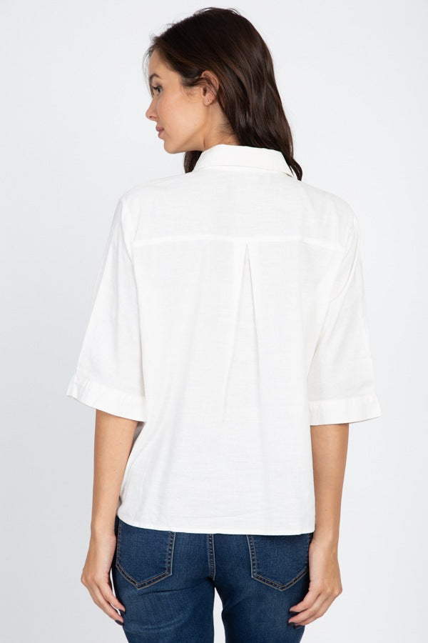 High Low Button Front Shirt - Bomberish