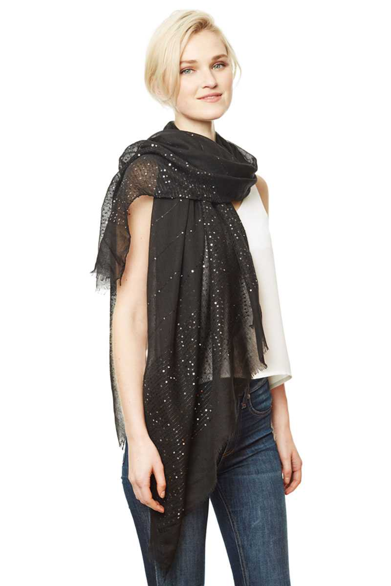Solid Lurex Scarf - Bomberish