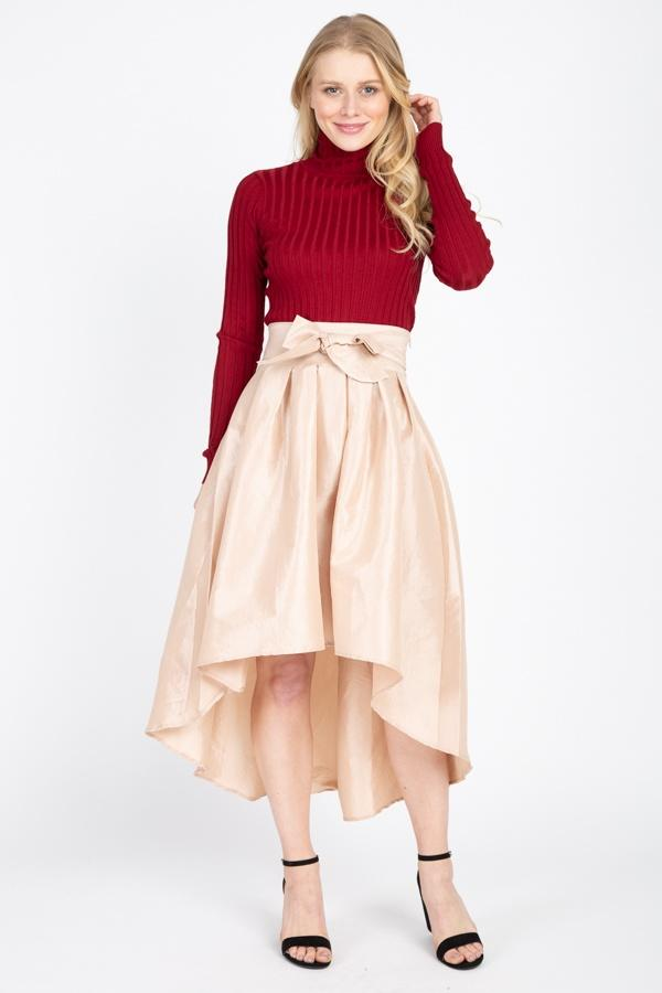 Taffeta High-low Skirt - Bomberish
