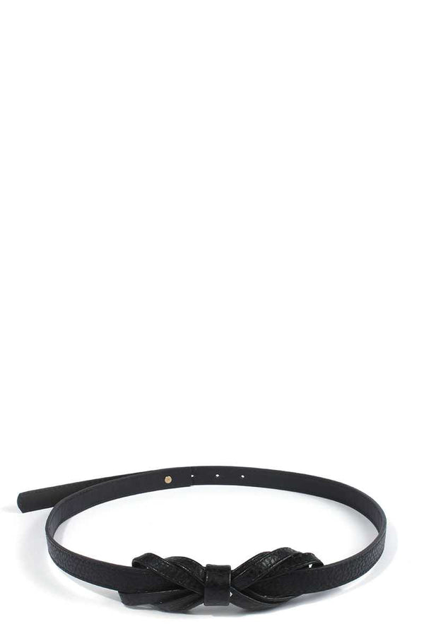 Bow Pu Leather Belt - Bomberish