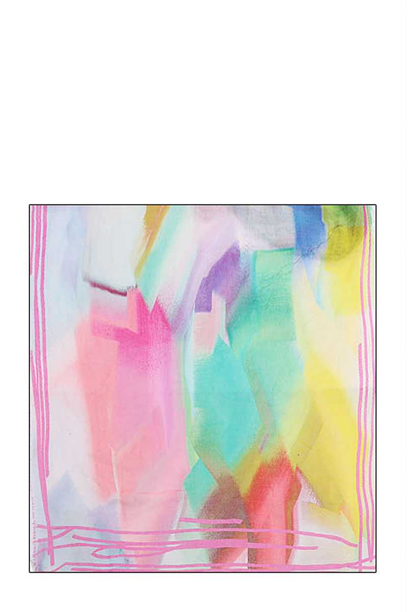 Soft Stylish Rainbow Color Scarf - Bomberish