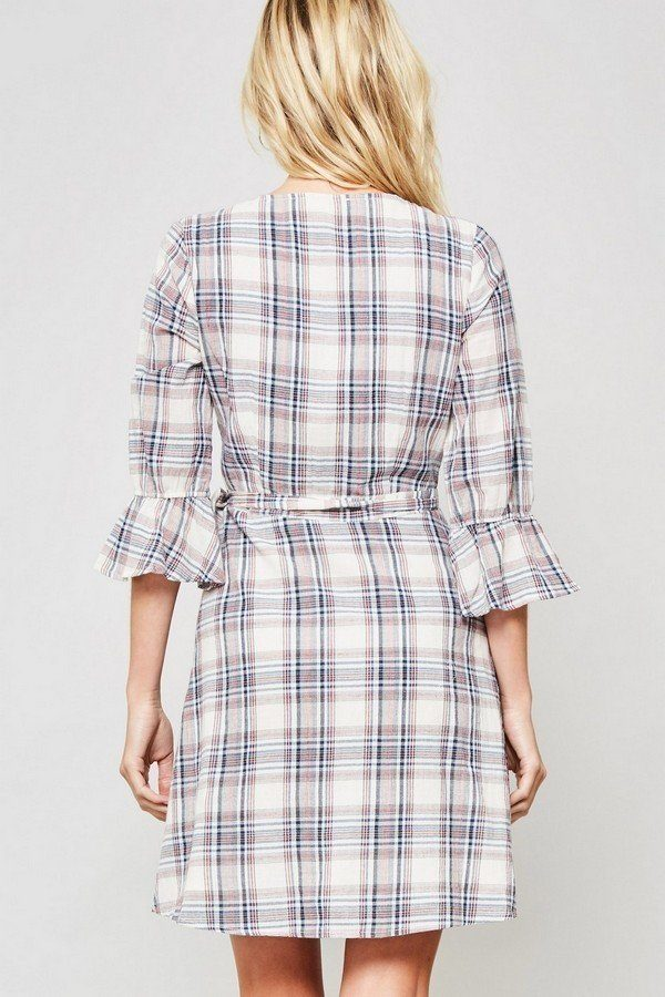 A Plaid Woven Dress - Bomberish