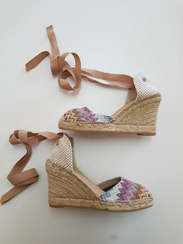 Lace-up espadrille wedges - Bomberish
